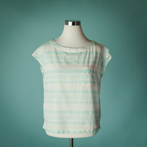 Patagoina M AC Tee Organic Cotton Hemp Stripe Top